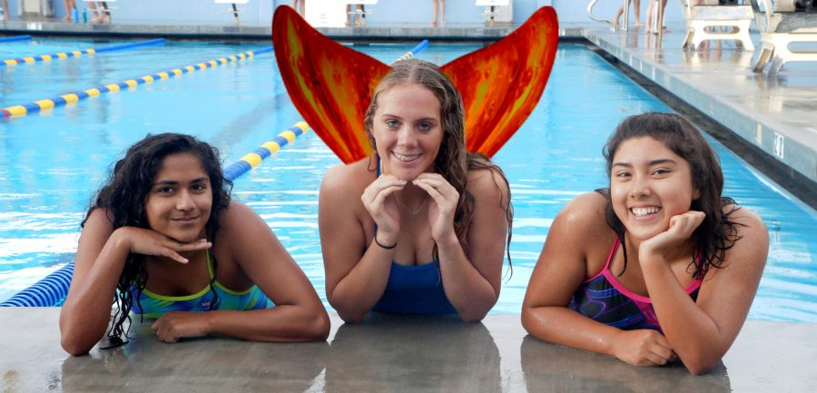 Dedicated swimmer sprouts gills and a fish tail (APRIL FOOLS')