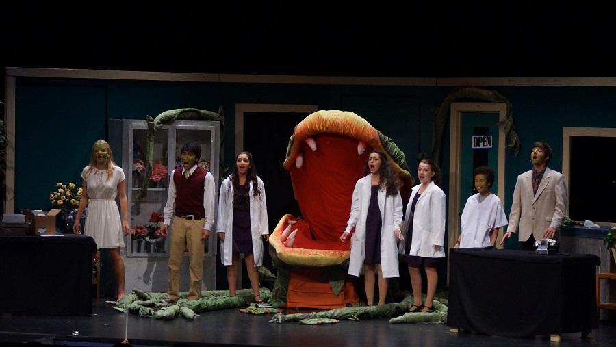 """The cast sings the final song, """"Finale (Don't Feed the Plants)."""""""