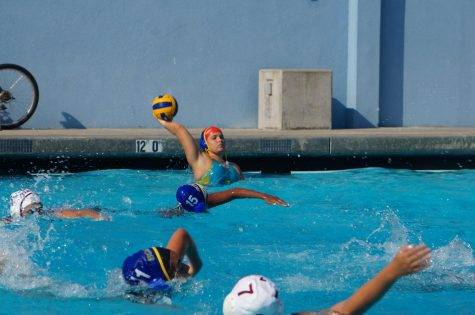 Girls varsity water polo achieves first win of the season