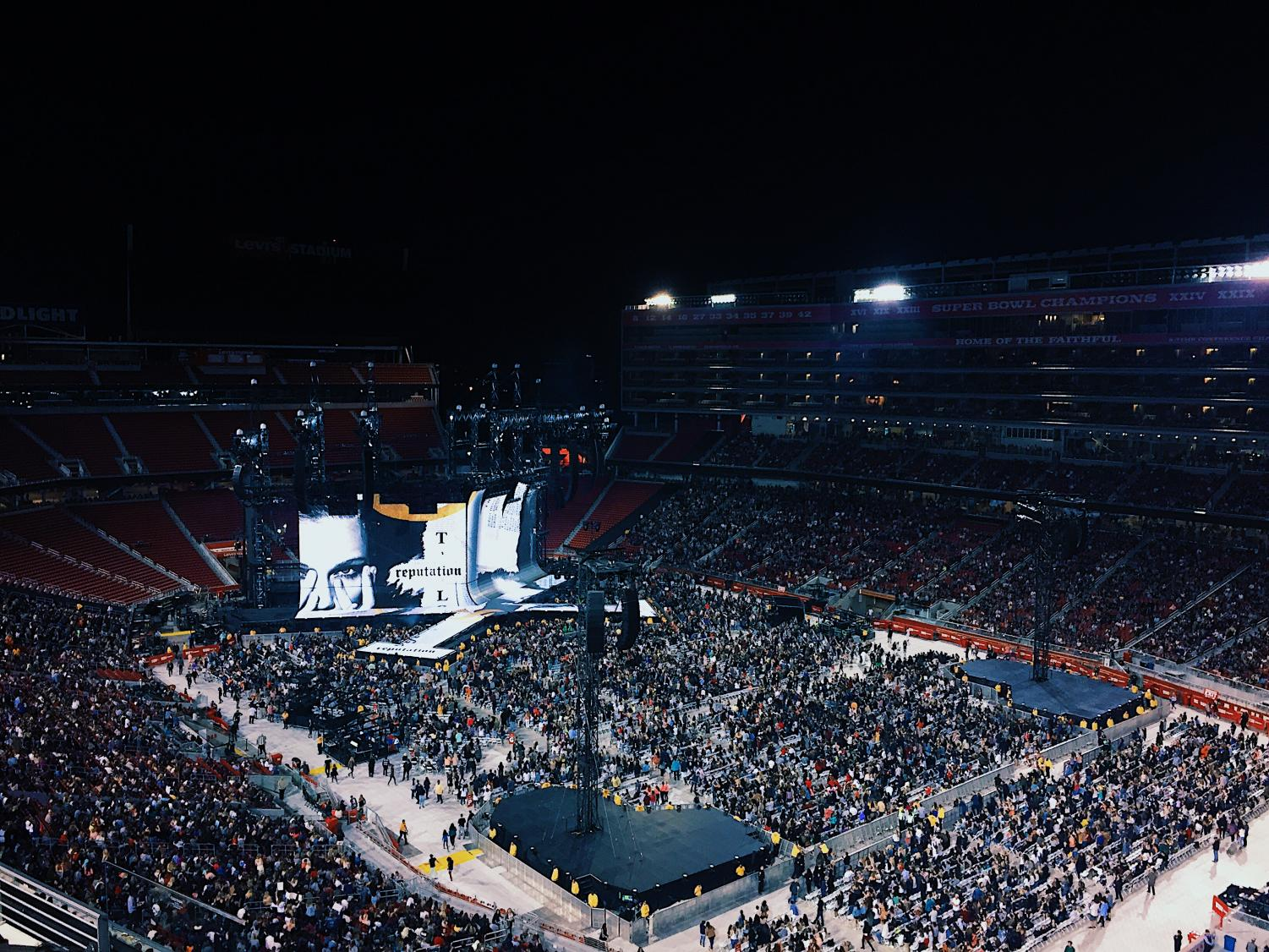 The stadium was filled with about 55,000 of fans.