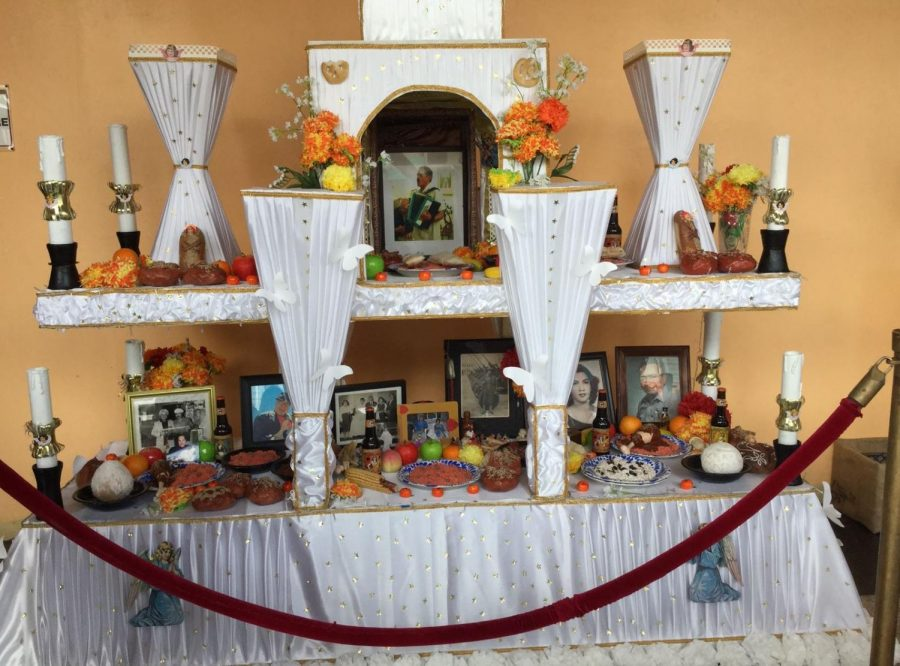 The+MCCLA+displayed+a+traditional+D%C3%ADa+de+Muertos+altar.