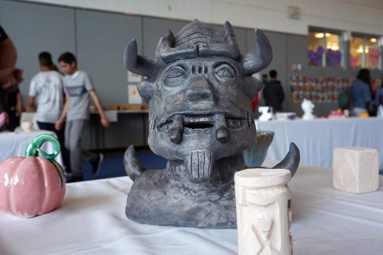 Junior Patrick Velasquez's sculpture.