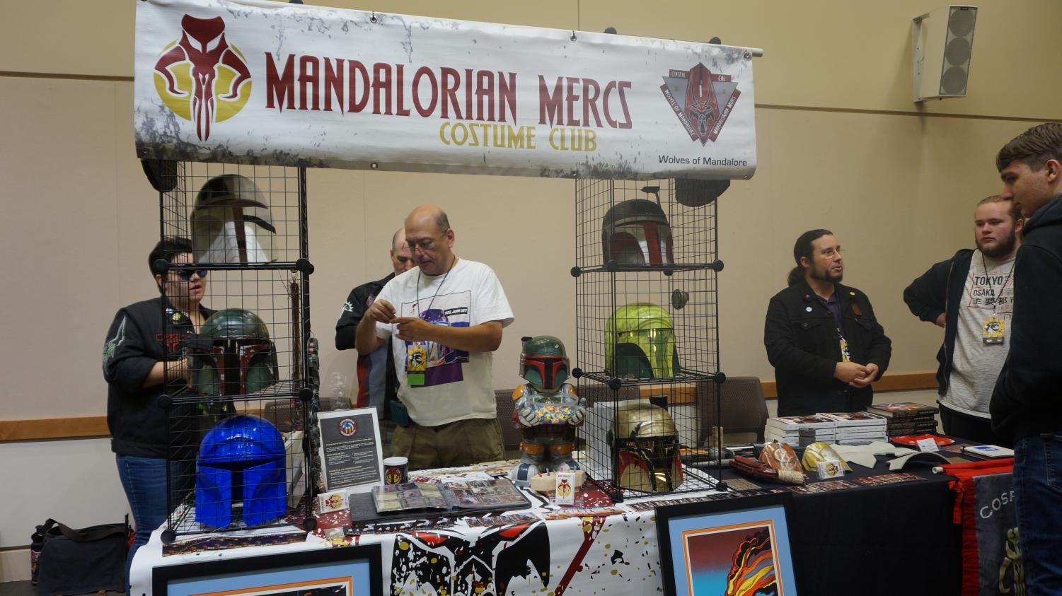 Booths were run and offered merch for con-goers.