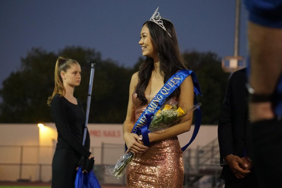 Senior+Megan+Takamatsu+is+crowned+2019+homecoming+queen.+