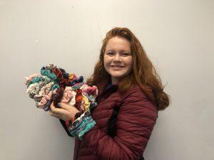 Student entrepreneurs: Junior Lauren Romard sells scrunchies at SCHS