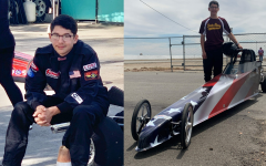 Josh DeSousa has been racing since 2018 and has been to Las Vegas for his competitions every year since. Racers can customize their cars, and Josh DeSousa chose to don the American flag on his.