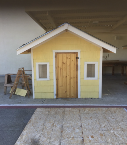 During a typical school year, Construction students would build projects such as wooden sheds.