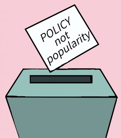 Voting for candidates based on their potential contributions is more important than their popularity.